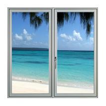 Sticker fenêtre sur plage