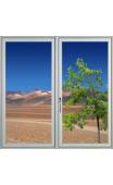 Sticker fenêtre sur désert