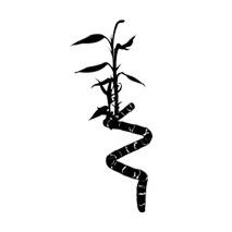 Sticker Bambou fleuri