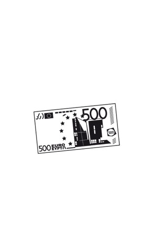 sticker billet de 500 euro