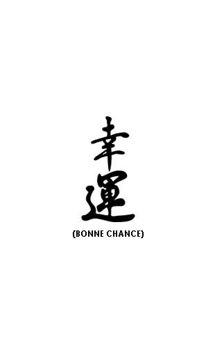 sticker zen calligraphie chinoise bonne chance