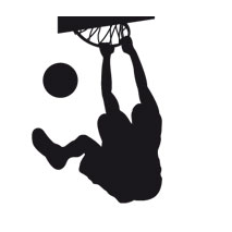 Sticker basketball dunk