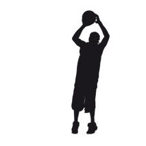 Sticker basket shooter