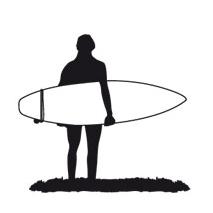 Sticker surfeur