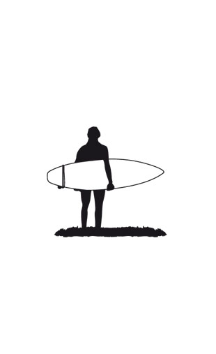 Sticker surfeur