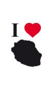 Sticker I love La Réunion