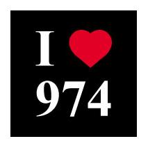 Sticker I love 974