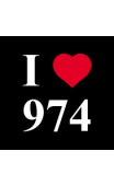 Sticker I love 974