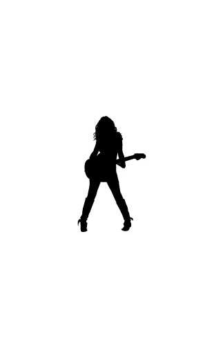 Sticker fille guitare