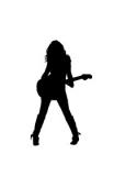 Sticker fille guitare