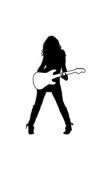 Sticker fille guitare rock