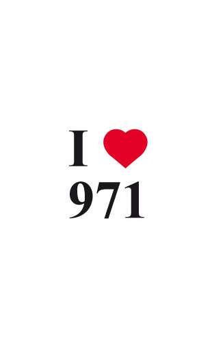 Sticker I love 971