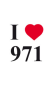 Sticker I love 971