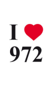 sticker I love 972