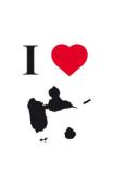 sticker I love Guadeloupe