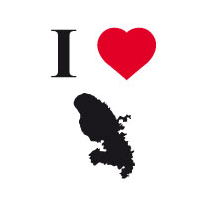 Sticker I love Martinique 2