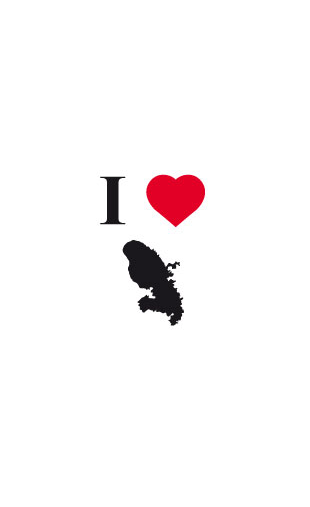 Sticker I love Martinique