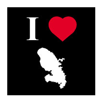Sticker I love Martinique 1