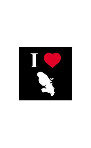 Sticker I love Martinique