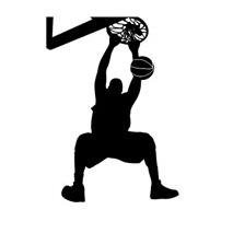 Sticker basketball dunk 2