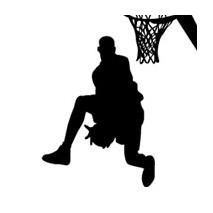 Sticker basket slam dunk