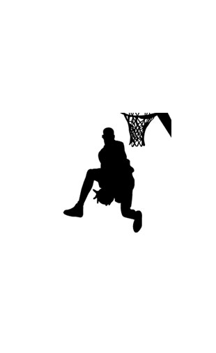 Sticker basket slam dunk