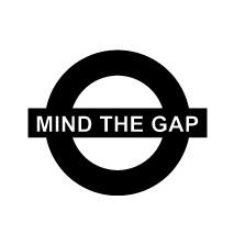 Sticker Mind The Gap