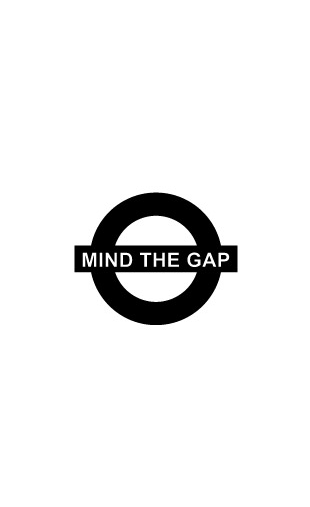 Sticker Mind The Gap
