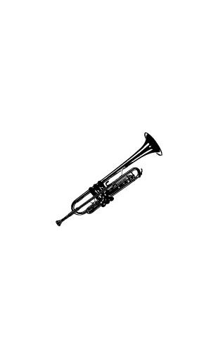 Sticker Trompette Jazzman