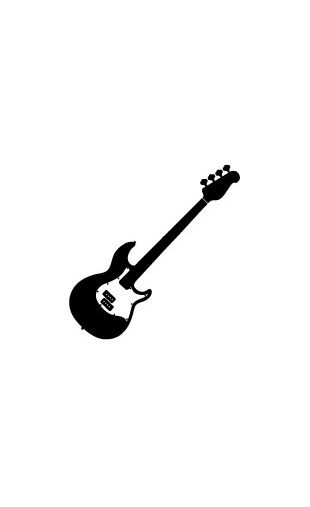 Sticker guitare basse