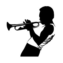 Sticker Jazz Trompette