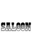 """Sticker """"SALOON"""""""