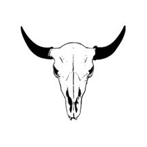 Sticker Buffalo Skull