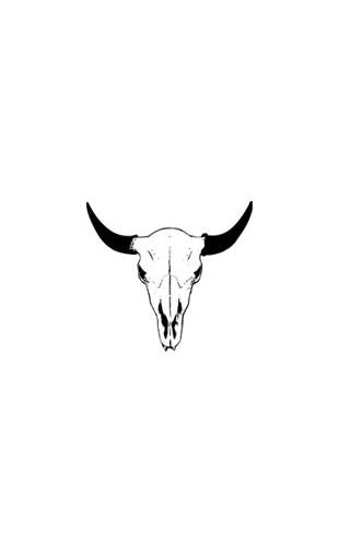 Sticker Buffalo Skull