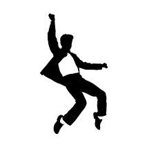 Sticker Elvis danse
