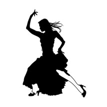 Sticker danse flamenco 1