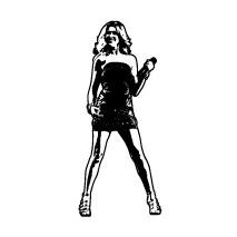 Sticker chanteuse 2