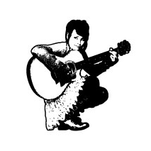 Sticker fille guitariste