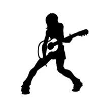 Sticker guitare girl