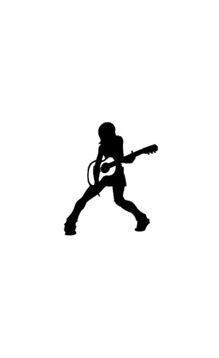 Sticker guitare girl