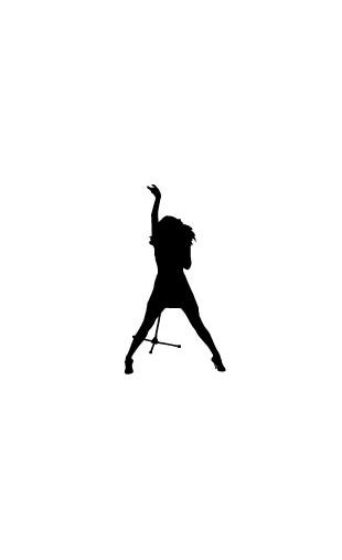 Sticker chanteuse star