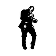 Sticker trompette jazz 2