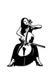 Sticker violoncelle