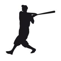 Sticker baseball batteur