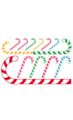 Sticker Noël sucre d'orge