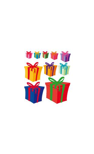 Sticker Cadeaux de Noël