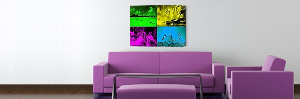 tableau photo sur toile modern pop